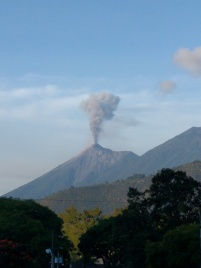 Volcan de Fuego putting on a show