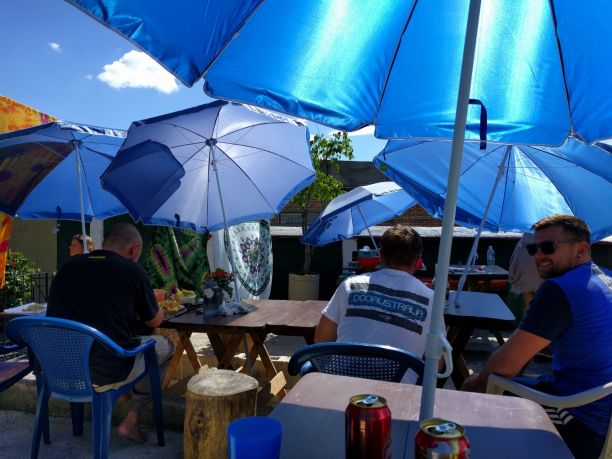 Under the Umbrellas at Los Amigos