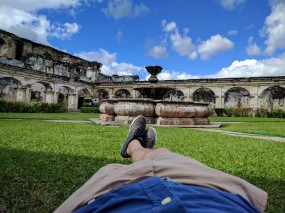 Relaxing in the Grounds at Convento Santa Clara