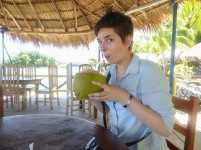 A nice refreshing coconut water