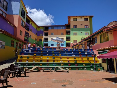 The giant colourful steps